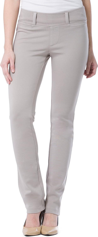 Fishers Finery Women's Ecofabric Ponte Stretch Straight Leg Dress Pant; Pull On