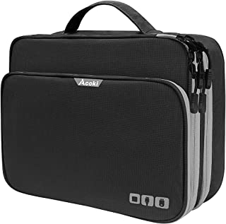 Acoki Three Layer Electronic Accessories Organizer, New Storage Handbag with Front Pocket Travel Cable Organizer Bag Water...