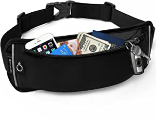 Fanny Packs for Women and Men Water Resistant Waist Pack for Men,Close Fitting Money Belt for Travel,Adjustable Waist Purse Bum Bag Fits Most Size Phone for Travelling Hiking Jogging Running