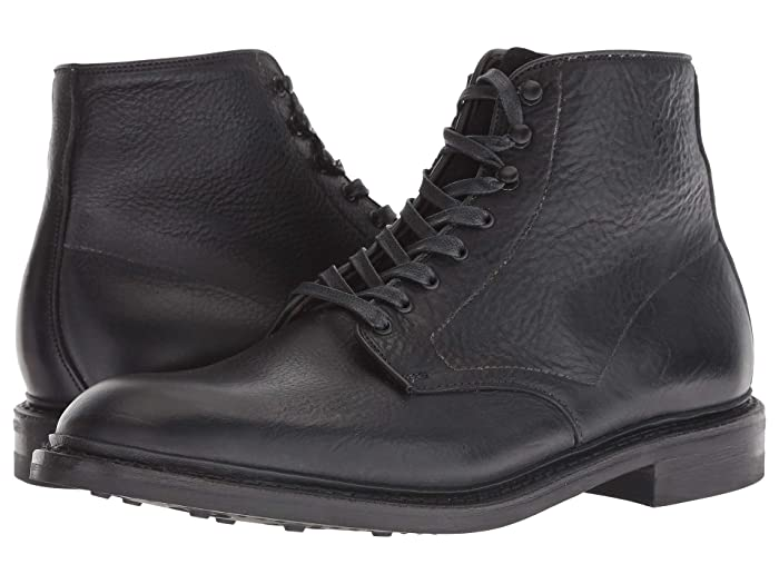 1940s Men's Fashion, Clothing Styles Allen Edmonds Higgins Mill Black Grain Mens Boots $315.99 AT vintagedancer.com