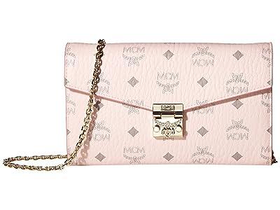 MCM Patricia Visetos Flap Wallet/Two-Fold Large (Powder Pink 1) Bags