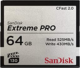 Sandisk SDCFSP-064G-G46D Extreme PRO CFast 2.0 Memory Card for Cameras and Camcorders, 64 GB, 4K Video, Black/Silver