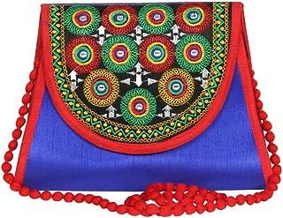 Streetkart Women's & Girl's Traditional Kutchi Art Work Sling Bag/Fashionable Sling Bag for Women/Stylish Polyester Sling ...
