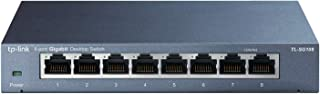 TP-Link 8-Port Gigabit Ethernet Network Switch, Sturdy Metal w/Shielded Ports, Unmanaged (TL-SG108)