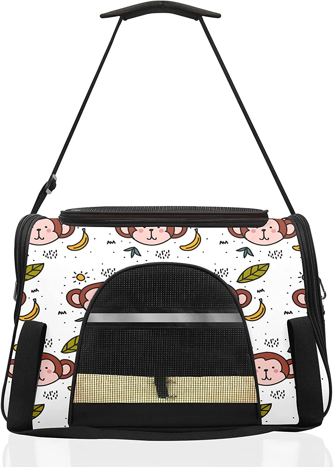 Pet Carriers for Cat Monkey Airline Very popular Trav Soft-Sided Approved Over item handling