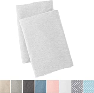 Great Bay Home Jersey Knit Pillowcase. All Season, Soft, Cozy Cases. T-Shirt Jersey Cotton Standard Pillow Case Set. Heather Cotton Jersey Case Set. (Standard Pillowcases, Winter White)