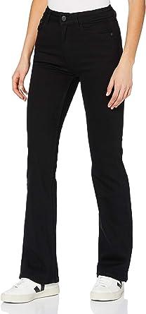 MERAKI Jeans de Cintura Alta con Corte de Bota Mujer