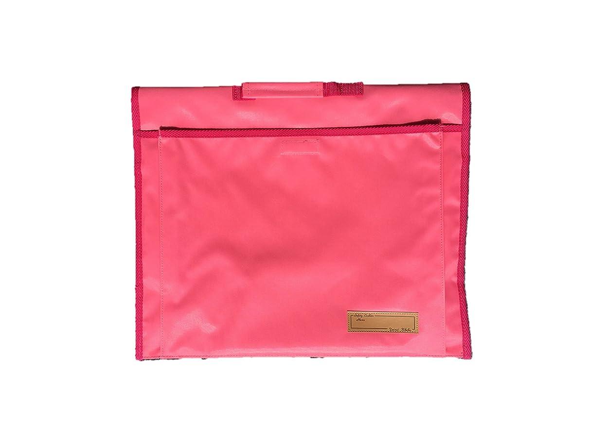 ストローク媒染剤グローブ背もたれ式防災頭巾用ポケット付カバー ピンク 約34×42cm 90056