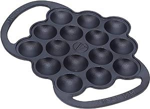 Victoria Dutch Mini Pancake Balls Maker. Cast Iron Griddle Perfect for making Takoyaki, Poffertjes Pancake Balls, and Thai...