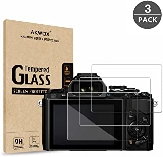 (Pack of 3) Tempered Screen Protector for Olympus OM-D E-M10 Mark III II E-M5 Mark II Pen-F E-P5 E-PL8 E-PL7 E-PL9, Akwox [0.3mm 2.5D High Definition 9H] Optical LCD Premium Glass Protective Cover