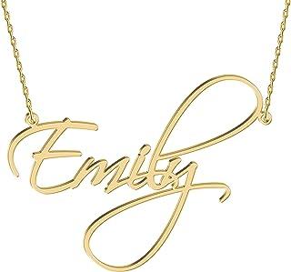 گردنبند طلا و جواهر طلا و جواهر 18K طلا و جواهر آویز گردنبند آویز گردنبند شخصی با هر نام