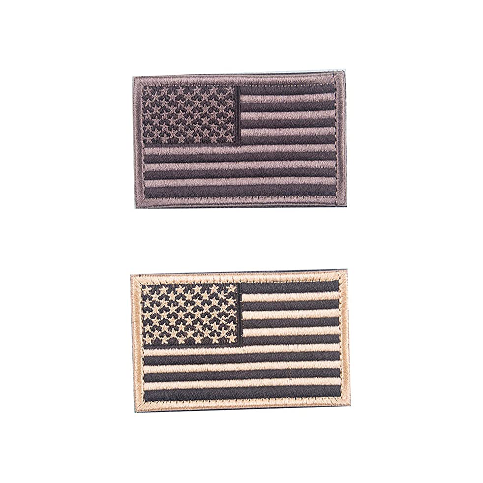 Simunliyg Tactical Military Morale Patch Set USA Flag Patch American Flag US United States of America, 2 Pieces