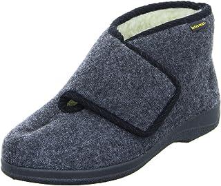Inter Max Hombre de velcro de casa Zapatos Botas con lana negro