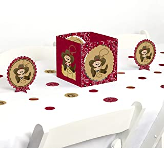 Big Dot of Happiness Little Cowboy - Western Baby Shower or Birthday Party Centerpiece & Table Decoration Kit