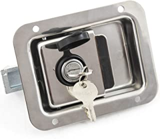 Red Hound Auto Stainless Door Lock Trailer Toolbox RV Paddle Handle Latch New 5.5 Inches 4.25 Inches Large