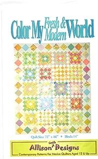 Allison Quilt Designs Color My Fresh & Modern World Quilt Pattern 72
