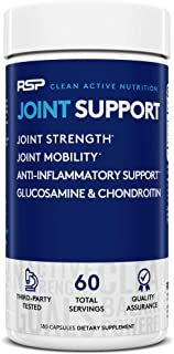 RSP Glucosamine Chondroitin MSM, Joint Support Supplement for Men and Women, Triple Strength Anti Inflammatory, Antioxidan...