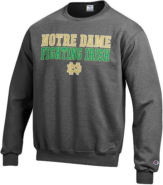 Elite Fan Shop Notre Dame Fighting Irish Tshirt Charcoal