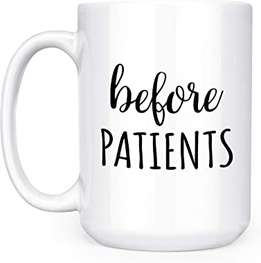 Before Patients, After Patients Set - Set Contains: One (1) 15 oz Deluxe Large Double-Sided Mug and One (1) 17 oz Stemless Wi