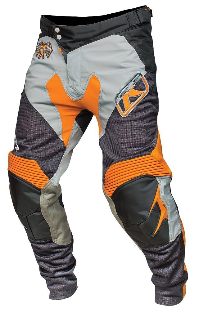 コモランマ見分けるギャンブルKLIM XC メンズ ダートバイク オートバイパンツ レッド 30 オレンジ 5004-000-030-400