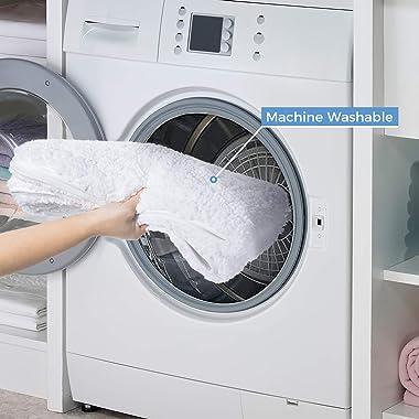 "Lifewit Bathroom Rug Bath Mat 32""x20"" Non-Slip Soft Shower Rug Plush Microfiber Water Absorbent Thick Shaggy Floor Ma"