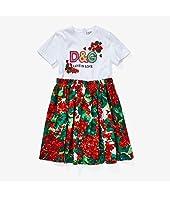 Portofino Print Poplin and Jersey Dress (Big Kids)