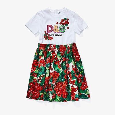 Dolce & Gabbana Kids Portofino Print Poplin and Jersey Dress (Big Kids) (Variante Abbinata) Girl