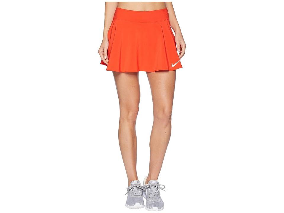 Nike Nike Court Flex Pure Tennis Skirt (Habanero Red/White) Women