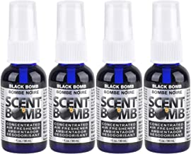 Scent Bomb Super Strong 100% Concentrated Air Freshener - 4 PACK (Black Bomb)