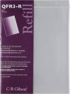 C.R. Gibson Refill Sheets for Vertical Recipe Keeper, 8.5'' x 11''