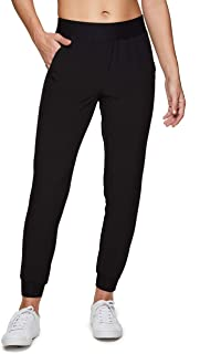 RBX Active Women's Relaxed Fit Lightweight Quick Drying Stretch Woven Pants with Pockets