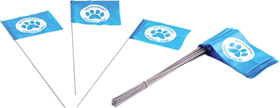 Educator FLAGS-50 Boundary Flags for E-Fence Underground Fence Containment System for Dogs, (Set of 50)