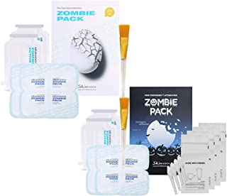 SKIN1004 Zombie Pack 2 Boxes (Original 1 Box, Halloween 1 Box) - Wash off Face Mask for Aging Skin, Fine Lines Wrinkles, Enlarged Pores, Dryness, Lifting and Hydrating