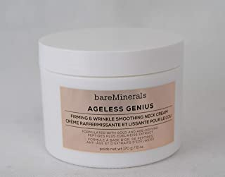 bareMinerals Ageless Genius Firming & Wrinkle Smoothing Neck Cream, 6 Ounce, Multi