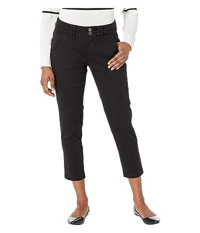 Jag Jeans Petite Petite Flora Chino Crop (Black) Women
