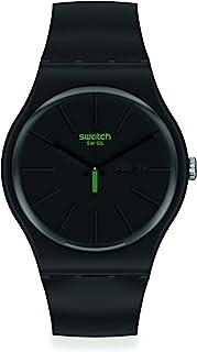 Swatch Swiss Quartz bio-sourced Plastic Strap, Black, 18 Casual Watch (Model: SO29B700)