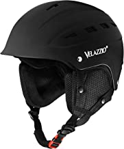 VELAZZIO Valiant Ski Helmet, Snowboard Helmet - Adjustable Venting, Goggles and Audio Compatible, Removable Liner and Ear Pads, Safety-Certified Snow Sports Helmet for Men, Women & Youth