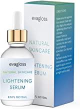 Lightening Serum with Kojic Acid, Dark Spot Corrector for Face & Body, Natural Gentle Skin Brightening & Bleaching Serum, Lightens Private, Sensitive Areas by Evagloss