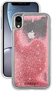 EMERGE SNOW GLOBE iPhone XR Glitter Cell Phone Case - Flowing Liquid Glitter Pink