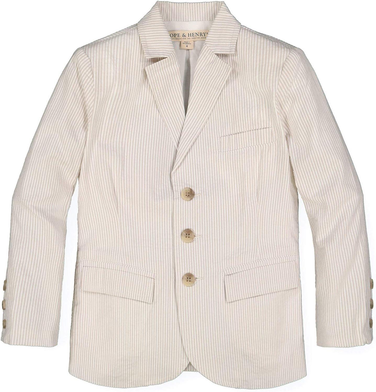 Hope & Henry Boys' Classic Seersucker Suit Jacket