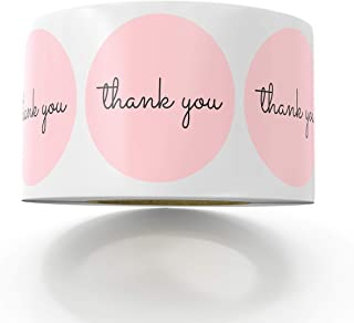 Sweetzer & Orange Thank You Stickers | 1.5 inches | 1000 Pink Stickers for Company Giveaway & Birthday Party Favors | Labels & Mailing Supplies for Small Business Boutique Bags & Merchandise Bags