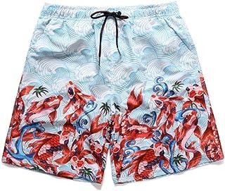 Ropa Hombre JJZZ Natación Pantalones Cortos Pantalones De Playa De Secado Rápido para Hombres Pantalones Cortos De Natación De Cinco Puntos con Estampado Casual