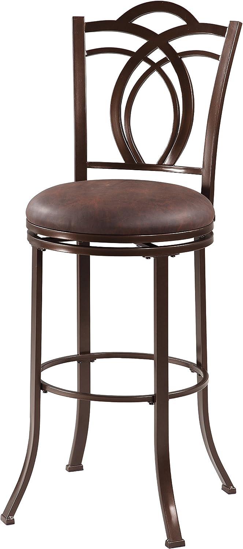 Linon Coffee Brown Metal Bar Stool Max 74% OFF 30