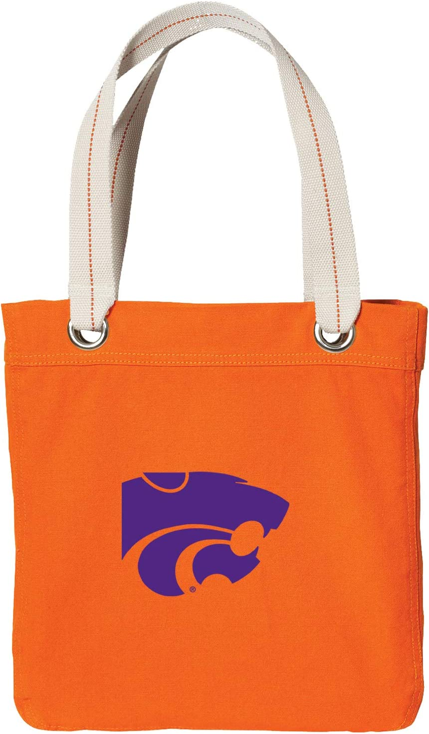 Denver Mall Broad Bay K-State Tote Bag Rich Canvas Dye Washed Orange Cotton Max 84% OFF