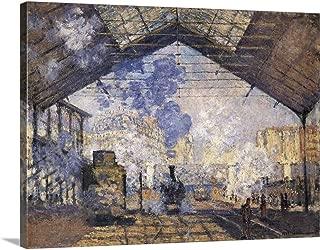 GREATBIGCANVAS Gallery-Wrapped Canvas La Gare Saint-Lazare by Claude Monet 16