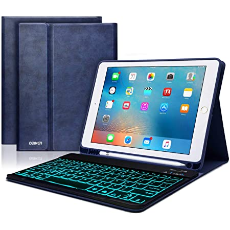 iPad Pro 9.7 Keyboard Case 9.7 inch Touchpad Bluetooth with Pencil Holder Compatible with iPad 2018 6th Gen,iPad Pro 2017 5th Gen iPad Air Case with Touchpad Keyboard Black iPad Air 2/&1
