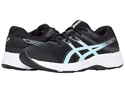 ASICS Kids GEL-Contend 6 (Little Kid/Big Kid) (Black/Ocean Decay) Girl