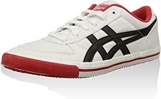 6343438149f468 ASICS Onitsuka Tiger Aaron GS Chaussures Mode Sneakers Homme Noir Blanc  Rouge