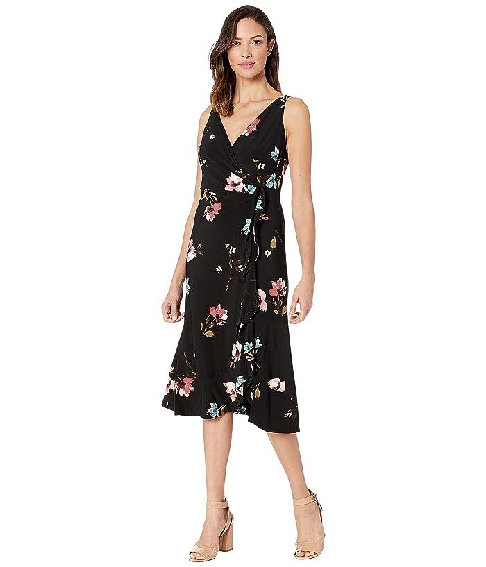 27634d3d3b9 LAUREN Ralph Lauren Alcoa Floral-Jackston (Black/Pink/Multi) Women's Dress