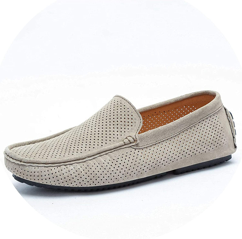 sommar Man Loafers Genuine läder läder läder Casual skor Mode Slip On Drive skor Andable Mocasins  märken online billig försäljning